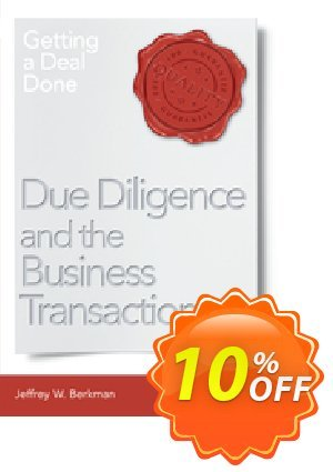 Due Diligence and the Business Transaction (Berkman) discount coupon Due Diligence and the Business Transaction (Berkman) Deal - Due Diligence and the Business Transaction (Berkman) Exclusive Easter Sale offer for iVoicesoft