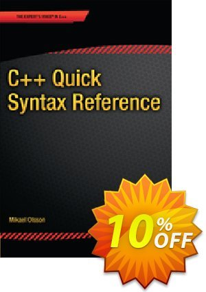 C++ Quick Syntax Reference (Olsson) Coupon discount C++ Quick Syntax Reference (Olsson) Deal. Promotion: C++ Quick Syntax Reference (Olsson) Exclusive Easter Sale offer for iVoicesoft