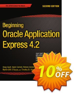 Beginning Oracle Application Express 4.2 (Gault) Coupon discount Beginning Oracle Application Express 4.2 (Gault) Deal. Promotion: Beginning Oracle Application Express 4.2 (Gault) Exclusive Easter Sale offer for iVoicesoft