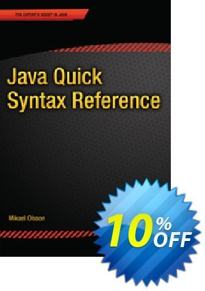 Java Quick Syntax Reference (Olsson) discount coupon Java Quick Syntax Reference (Olsson) Deal - Java Quick Syntax Reference (Olsson) Exclusive Easter Sale offer for iVoicesoft