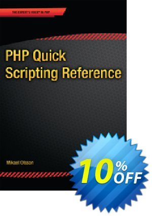 PHP Quick Scripting Reference (Olsson) 優惠券,折扣碼 PHP Quick Scripting Reference (Olsson) Deal,促銷代碼: PHP Quick Scripting Reference (Olsson) Exclusive Easter Sale offer for iVoicesoft