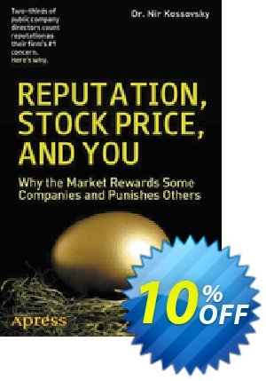 Reputation, Stock Price, and You (Kossovsky) discount coupon Reputation, Stock Price, and You (Kossovsky) Deal - Reputation, Stock Price, and You (Kossovsky) Exclusive Easter Sale offer for iVoicesoft