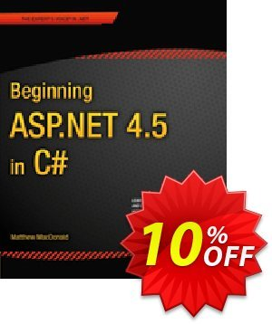 Beginning ASP.NET 4.5 in C# (MacDonald) Coupon, discount Beginning ASP.NET 4.5 in C# (MacDonald) Deal. Promotion: Beginning ASP.NET 4.5 in C# (MacDonald) Exclusive Easter Sale offer for iVoicesoft