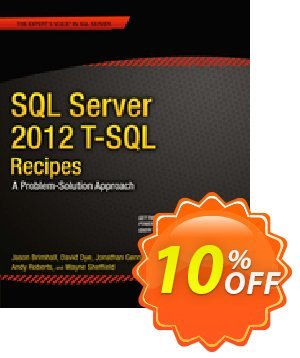 SQL Server 2012 T-SQL Recipes (Brimhall) discount coupon SQL Server 2012 T-SQL Recipes (Brimhall) Deal - SQL Server 2012 T-SQL Recipes (Brimhall) Exclusive Easter Sale offer for iVoicesoft