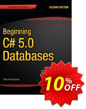 Beginning C# 5.0 Databases (Vrat Agarwal) discount coupon Beginning C# 5.0 Databases (Vrat Agarwal) Deal - Beginning C# 5.0 Databases (Vrat Agarwal) Exclusive Easter Sale offer for iVoicesoft