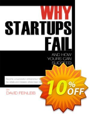 Why Startups Fail (Feinleib) discount coupon Why Startups Fail (Feinleib) Deal - Why Startups Fail (Feinleib) Exclusive Easter Sale offer for iVoicesoft