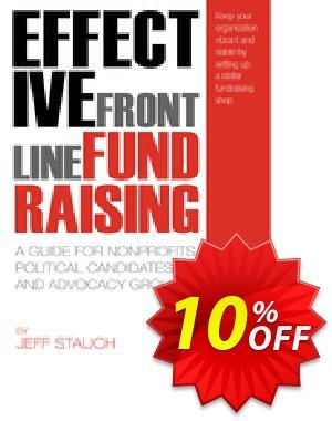 Effective Frontline Fundraising (Stauch) discount coupon Effective Frontline Fundraising (Stauch) Deal - Effective Frontline Fundraising (Stauch) Exclusive Easter Sale offer for iVoicesoft