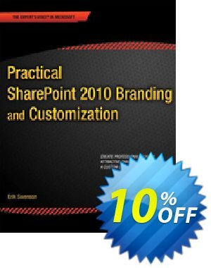Practical SharePoint 2010 Branding and Customization (Swenson) 프로모션 코드 Practical SharePoint 2010 Branding and Customization (Swenson) Deal 프로모션: Practical SharePoint 2010 Branding and Customization (Swenson) Exclusive Easter Sale offer for iVoicesoft
