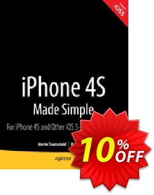 iPhone 4S Made Simple (Trautschold) discount coupon iPhone 4S Made Simple (Trautschold) Deal - iPhone 4S Made Simple (Trautschold) Exclusive Easter Sale offer for iVoicesoft