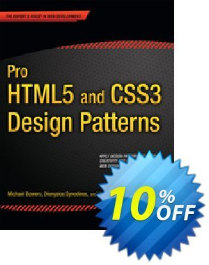 Pro HTML5 and CSS3 Design Patterns (Bowers) discount coupon Pro HTML5 and CSS3 Design Patterns (Bowers) Deal - Pro HTML5 and CSS3 Design Patterns (Bowers) Exclusive Easter Sale offer for iVoicesoft