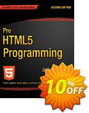 Pro HTML5 Programming (Lubbers) discount coupon Pro HTML5 Programming (Lubbers) Deal - Pro HTML5 Programming (Lubbers) Exclusive Easter Sale offer for iVoicesoft