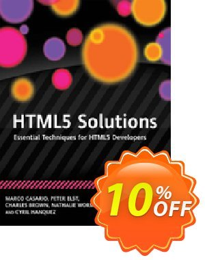 HTML5 Solutions (Casario) discount coupon HTML5 Solutions (Casario) Deal - HTML5 Solutions (Casario) Exclusive Easter Sale offer for iVoicesoft