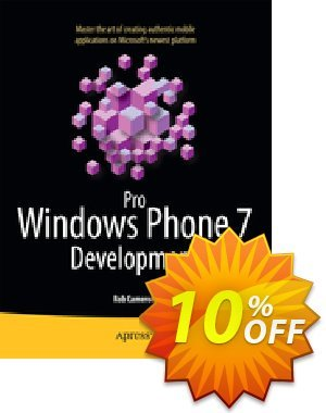 Pro Windows Phone 7 Development (Cameron) discount coupon Pro Windows Phone 7 Development (Cameron) Deal - Pro Windows Phone 7 Development (Cameron) Exclusive Easter Sale offer for iVoicesoft