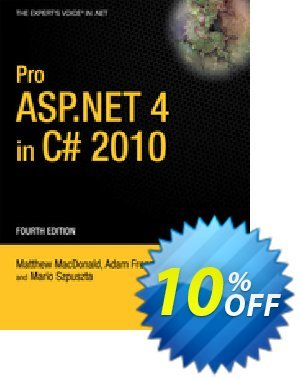 Pro ASP.NET 4 in C# 2010 (MacDonald) 優惠券,折扣碼 Pro ASP.NET 4 in C# 2010 (MacDonald) Deal,促銷代碼: Pro ASP.NET 4 in C# 2010 (MacDonald) Exclusive Easter Sale offer for iVoicesoft