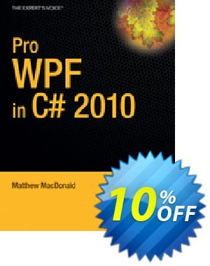 Pro WPF in C# 2010 (MacDonald) 프로모션 코드 Pro WPF in C# 2010 (MacDonald) Deal 프로모션: Pro WPF in C# 2010 (MacDonald) Exclusive Easter Sale offer for iVoicesoft