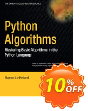 Python Algorithms (Hetland)割引コード・Python Algorithms (Hetland) Deal キャンペーン:Python Algorithms (Hetland) Exclusive Easter Sale offer for iVoicesoft