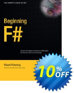 Beginning F# (Pickering) Coupon discount Beginning F# (Pickering) Deal. Promotion: Beginning F# (Pickering) Exclusive Easter Sale offer for iVoicesoft