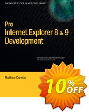 Pro Internet Explorer 8 & 9 Development (Crowley) discount coupon Pro Internet Explorer 8 & 9 Development (Crowley) Deal - Pro Internet Explorer 8 & 9 Development (Crowley) Exclusive Easter Sale offer for iVoicesoft