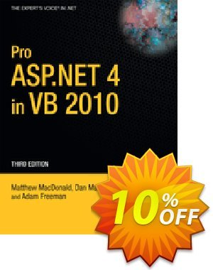 Pro ASP.NET 4 in VB 2010 (MacDonald) 優惠券,折扣碼 Pro ASP.NET 4 in VB 2010 (MacDonald) Deal,促銷代碼: Pro ASP.NET 4 in VB 2010 (MacDonald) Exclusive Easter Sale offer for iVoicesoft