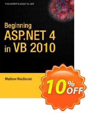Beginning ASP.NET 4 in VB 2010 (MacDonald) Coupon discount Beginning ASP.NET 4 in VB 2010 (MacDonald) Deal. Promotion: Beginning ASP.NET 4 in VB 2010 (MacDonald) Exclusive Easter Sale offer for iVoicesoft