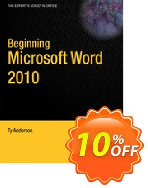 Beginning Microsoft Word 2010 (Anderson)割引コード・Beginning Microsoft Word 2010 (Anderson) Deal キャンペーン:Beginning Microsoft Word 2010 (Anderson) Exclusive Easter Sale offer for iVoicesoft