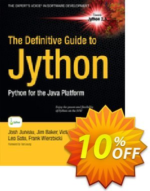 The Definitive Guide to Jython (Juneau) 프로모션 코드 The Definitive Guide to Jython (Juneau) Deal 프로모션: The Definitive Guide to Jython (Juneau) Exclusive Easter Sale offer for iVoicesoft