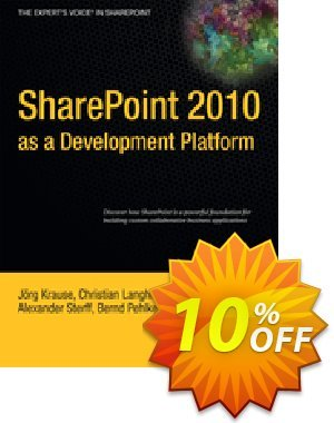 SharePoint 2010 as a Development Platform (Krause) 프로모션 코드 SharePoint 2010 as a Development Platform (Krause) Deal 프로모션: SharePoint 2010 as a Development Platform (Krause) Exclusive Easter Sale offer for iVoicesoft