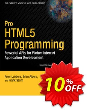 Pro HTML5 Programming (Lubbers) 프로모션 코드 Pro HTML5 Programming (Lubbers) Deal 프로모션: Pro HTML5 Programming (Lubbers) Exclusive Easter Sale offer for iVoicesoft