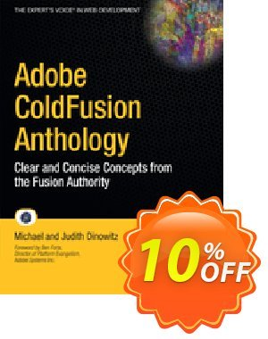 Adobe ColdFusion Anthology (Dinowitz) 優惠券,折扣碼 Adobe ColdFusion Anthology (Dinowitz) Deal,促銷代碼: Adobe ColdFusion Anthology (Dinowitz) Exclusive Easter Sale offer for iVoicesoft