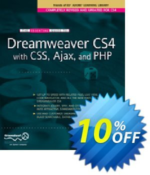 The Essential Guide to Dreamweaver CS4 with CSS, Ajax, and PHP (Powers) discount coupon The Essential Guide to Dreamweaver CS4 with CSS, Ajax, and PHP (Powers) Deal - The Essential Guide to Dreamweaver CS4 with CSS, Ajax, and PHP (Powers) Exclusive Easter Sale offer for iVoicesoft