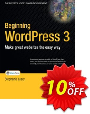 Beginning WordPress 3 (Leary) discount coupon Beginning WordPress 3 (Leary) Deal - Beginning WordPress 3 (Leary) Exclusive Easter Sale offer for iVoicesoft