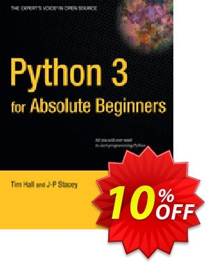 Python 3 for Absolute Beginners (Hall) 優惠券,折扣碼 Python 3 for Absolute Beginners (Hall) Deal,促銷代碼: Python 3 for Absolute Beginners (Hall) Exclusive Easter Sale offer for iVoicesoft