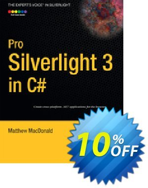 Pro Silverlight 3 in C# (MacDonald) 프로모션 코드 Pro Silverlight 3 in C# (MacDonald) Deal 프로모션: Pro Silverlight 3 in C# (MacDonald) Exclusive Easter Sale offer for iVoicesoft
