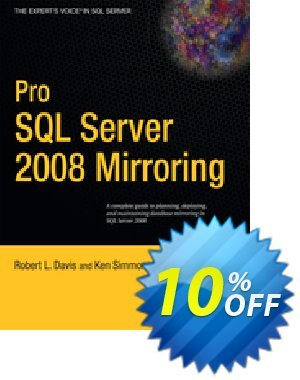 Pro SQL Server 2008 Mirroring (Davis) 優惠券,折扣碼 Pro SQL Server 2008 Mirroring (Davis) Deal,促銷代碼: Pro SQL Server 2008 Mirroring (Davis) Exclusive Easter Sale offer for iVoicesoft