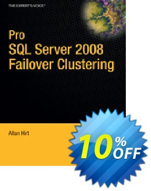 Pro SQL Server 2008 Failover Clustering (Hirt) 優惠券,折扣碼 Pro SQL Server 2008 Failover Clustering (Hirt) Deal,促銷代碼: Pro SQL Server 2008 Failover Clustering (Hirt) Exclusive Easter Sale offer for iVoicesoft