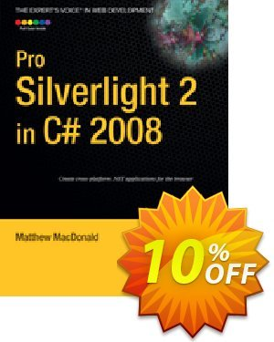 Pro Silverlight 2 in C# 2008 (MacDonald) discount coupon Pro Silverlight 2 in C# 2008 (MacDonald) Deal - Pro Silverlight 2 in C# 2008 (MacDonald) Exclusive Easter Sale offer for iVoicesoft