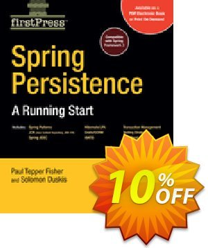 Spring Persistence -- A Running Start (Fisher) 優惠券,折扣碼 Spring Persistence -- A Running Start (Fisher) Deal,促銷代碼: Spring Persistence -- A Running Start (Fisher) Exclusive Easter Sale offer for iVoicesoft