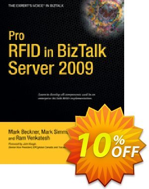 Pro RFID in BizTalk Server 2009 (Simms) Coupon discount Pro RFID in BizTalk Server 2009 (Simms) Deal. Promotion: Pro RFID in BizTalk Server 2009 (Simms) Exclusive Easter Sale offer for iVoicesoft
