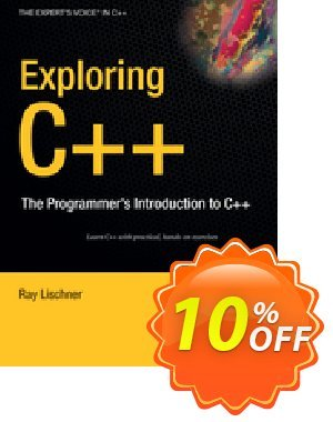Exploring C++ (Lischner) discount coupon Exploring C++ (Lischner) Deal - Exploring C++ (Lischner) Exclusive Easter Sale offer for iVoicesoft