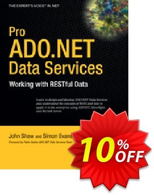 Pro ADO.NET Data Services (Shaw) Coupon discount Pro ADO.NET Data Services (Shaw) Deal. Promotion: Pro ADO.NET Data Services (Shaw) Exclusive Easter Sale offer for iVoicesoft