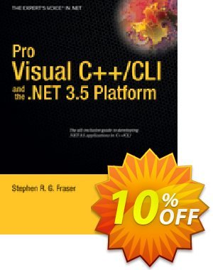 Pro Visual C++/CLI and the .NET 3.5 Platform (Fraser)割引コード・Pro Visual C++/CLI and the .NET 3.5 Platform (Fraser) Deal キャンペーン:Pro Visual C++/CLI and the .NET 3.5 Platform (Fraser) Exclusive Easter Sale offer for iVoicesoft