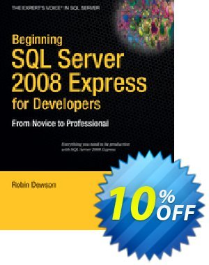 Beginning SQL Server 2008 Express for Developers (Dewson) 프로모션 코드 Beginning SQL Server 2008 Express for Developers (Dewson) Deal 프로모션: Beginning SQL Server 2008 Express for Developers (Dewson) Exclusive Easter Sale offer for iVoicesoft