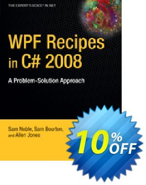 WPF Recipes in C# 2008 (Bourton) 優惠券,折扣碼 WPF Recipes in C# 2008 (Bourton) Deal,促銷代碼: WPF Recipes in C# 2008 (Bourton) Exclusive Easter Sale offer for iVoicesoft
