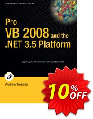 Pro VB 2008 and the .NET 3.5 Platform (Troelsen) discount coupon Pro VB 2008 and the .NET 3.5 Platform (Troelsen) Deal - Pro VB 2008 and the .NET 3.5 Platform (Troelsen) Exclusive Easter Sale offer for iVoicesoft