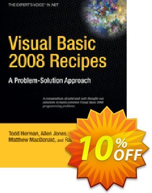 Visual Basic 2008 Recipes (Rajan) discount coupon Visual Basic 2008 Recipes (Rajan) Deal - Visual Basic 2008 Recipes (Rajan) Exclusive Easter Sale offer for iVoicesoft
