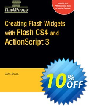 Creating Flash Widgets with Flash CS4 and ActionScript 3.0 (Arana) discount coupon Creating Flash Widgets with Flash CS4 and ActionScript 3.0 (Arana) Deal - Creating Flash Widgets with Flash CS4 and ActionScript 3.0 (Arana) Exclusive Easter Sale offer for iVoicesoft