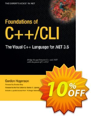 Foundations of C++/CLI (Hogenson) discount coupon Foundations of C++/CLI (Hogenson) Deal - Foundations of C++/CLI (Hogenson) Exclusive Easter Sale offer for iVoicesoft