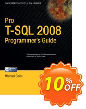 Pro T-SQL 2008 Programmer's Guide (Coles) 프로모션 코드 Pro T-SQL 2008 Programmer's Guide (Coles) Deal 프로모션: Pro T-SQL 2008 Programmer's Guide (Coles) Exclusive Easter Sale offer for iVoicesoft