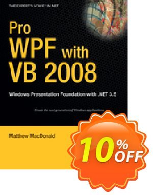 Pro WPF with VB 2008 (MacDonald) 優惠券,折扣碼 Pro WPF with VB 2008 (MacDonald) Deal,促銷代碼: Pro WPF with VB 2008 (MacDonald) Exclusive Easter Sale offer for iVoicesoft