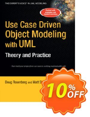 Use Case Driven Object Modeling with UMLTheory and Practice (Rosenberg) discount coupon Use Case Driven Object Modeling with UMLTheory and Practice (Rosenberg) Deal - Use Case Driven Object Modeling with UMLTheory and Practice (Rosenberg) Exclusive Easter Sale offer for iVoicesoft